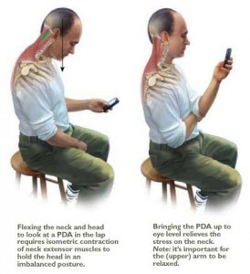 Chiropractic - text neck